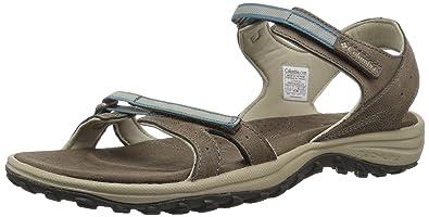 Columbia Santiam Sandals Women Mud/Canyon Blue US 5 zJJA0mcx