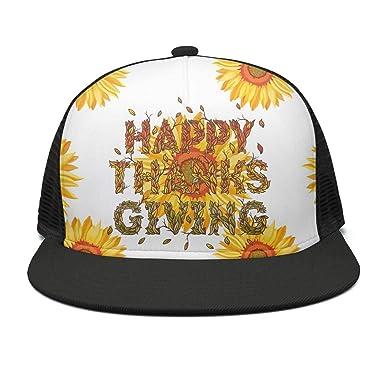 5350ca1d0e3da Lingxxshow Thanksgiving Day Flat Bill Adjustable Hat Snap Snapback ...