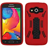 Asmyna Asmyna Samsung G386T Galaxy Avant Symbiosis Stand Protector Cover - Retail Packaging - Black/Red