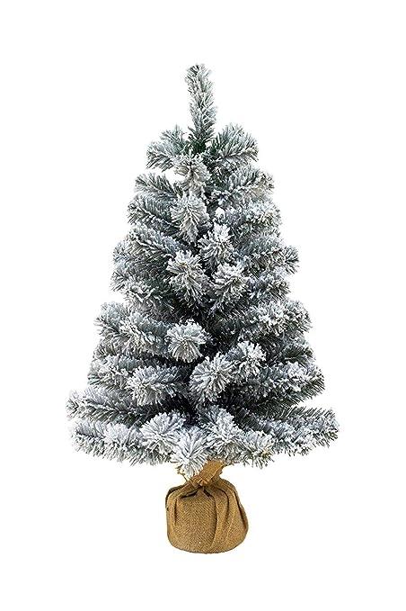 Foto Alberi Di Natale.Pinetto Innevato 65 Cm Albero Di Natale Piccolo