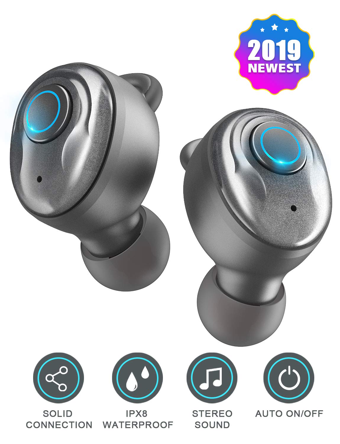 7ecee6e2e40 PeohZarr Wireless Earbuds Bluetooth Earbuds V5.0 with Charging Case, 3D  Stereo Pro Sound, Noise Canceling Earphones with Built-in Mic and MONO  Mode, ...