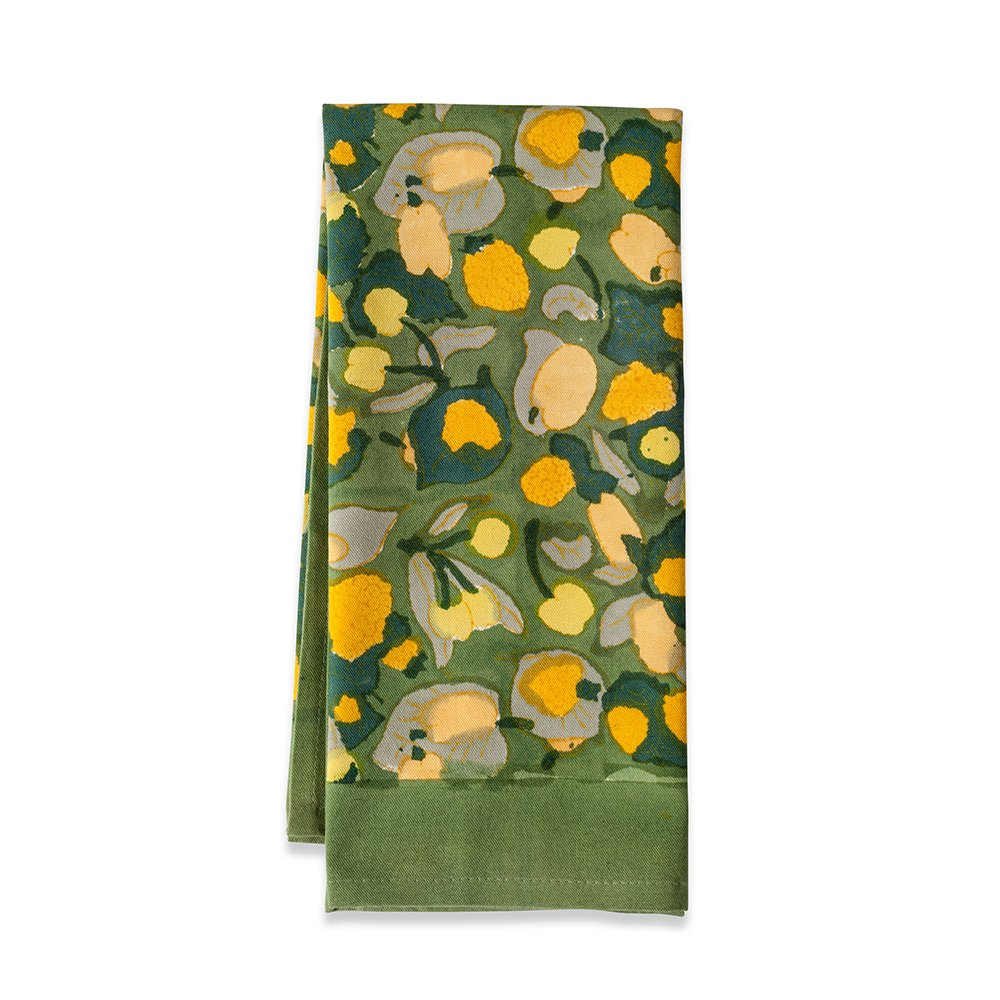 Couleur Nature Fruit Tea Towels, 20-inches by 30-inches, Yellow/Green, Set of 3 by Couleur Nature