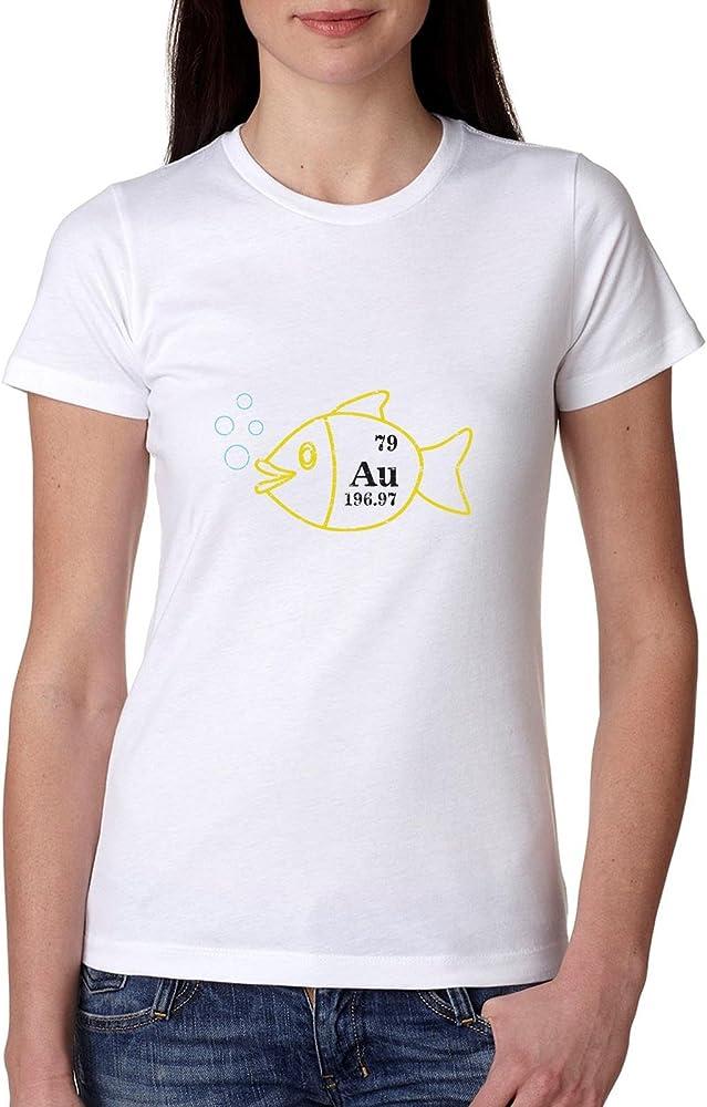 Oro peces tabla periódica AU – Química Science Love camiseta de algodón de las mujeres: Amazon.es: Ropa y accesorios