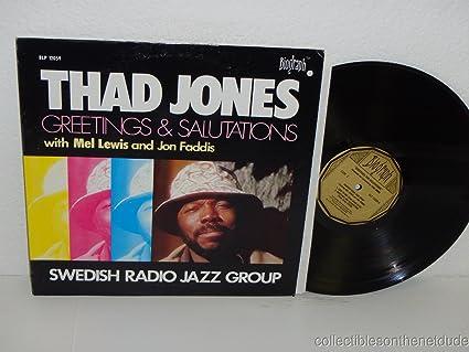 Thad jones greetings salutations lp amazon music greetings salutations lp m4hsunfo