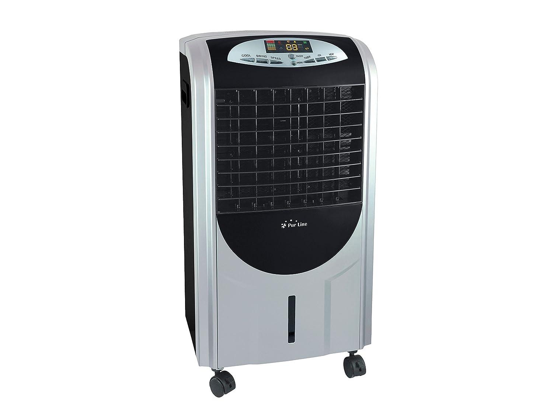 humidificador PURLINE RAFY 92 Climatizador evaporativo con funci/ón Calor ABS Negro yplata
