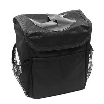 Amazon.es: Mini Wonder Gran Capacidad Plegable Coche Cubo de Basura con Tapa, Negro Impermeable Bolsa de Basura Organizador