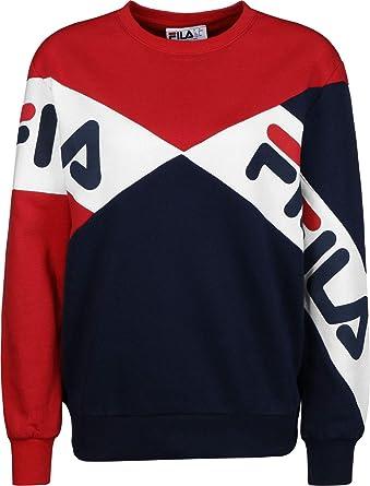 2c3bb5ae56d2 Fila - Lidia Cotton Blend Sweatshirt, Red: Amazon.co.uk: Clothing
