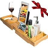 Amazon.com: Umbra Aquala Bamboo and Chrome Bathtub Caddy