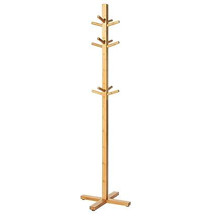 MyGift - Perchero de Madera de bambú con 12 Ganchos para ...