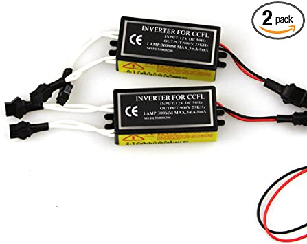 1X USA CCFL HALO RING DEVIL ANGEL EYES LIGHT INVERTERS BALLAST REPLACEMENT 12V