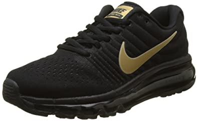 b25c3bf27e Nike Unisex Kids' Air Max 2017 (GS) Running Shoes, (Black/Metallic ...