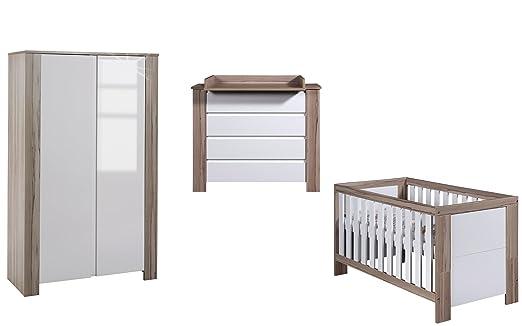 Schardt Kinderzimmer Cube Olive bestehend aus Kombi-Kinderbett und 2 ...