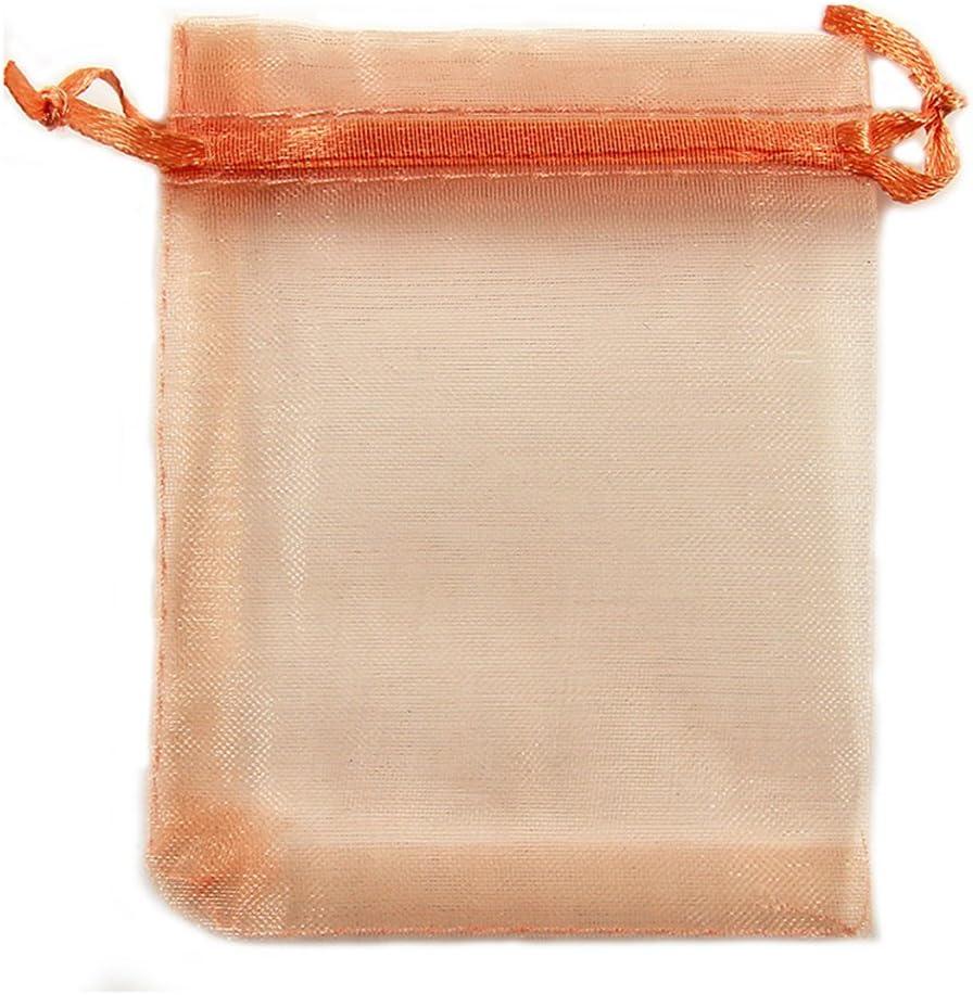 9 x 12 cm The Cufflink Shop 100 x Beige Satin Cordon Organza des Sacs-Cadeaux aumoni/ère de Bijouterie Sacs de Mariage