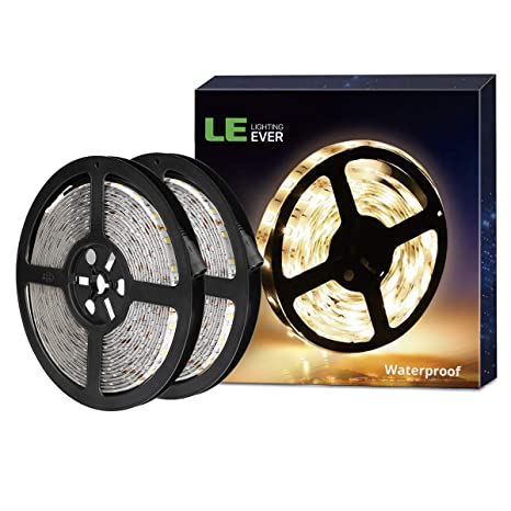 Resistente al Agua IP65 Cadena de Luces Blanco Fr/ío Muebles LE Tira LED 5m 300 LED SMD 2835 para Techo Cocina etc.