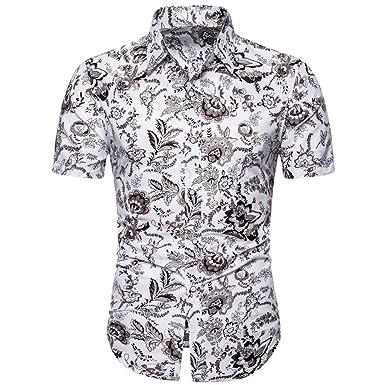 Camisa Hawaiana Hombre Manga Corta Polos Manga Corta Hombre Básico ...