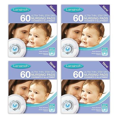 Lansinoh Disposable Nursing Breast Pads (4 x 60 Piece Packs)