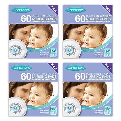 83b51b89c41f8 Lansinoh Disposable Nursing Breast Pads (4 x 60 Piece Packs)  Amazon.co.uk   Baby
