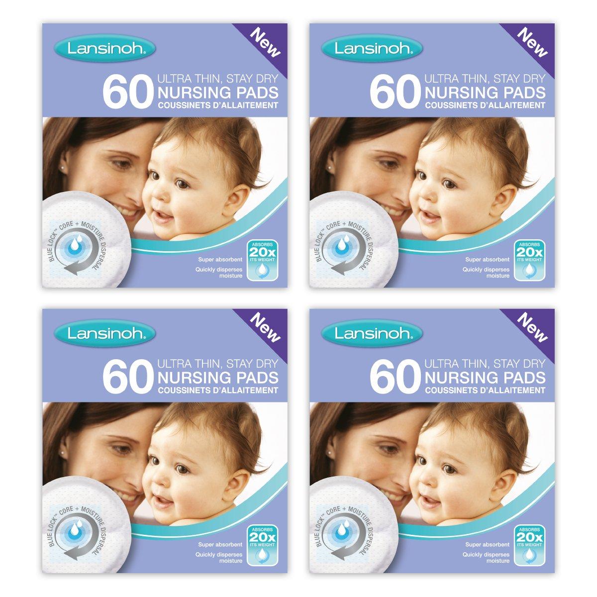 Lansinoh Nursing Pads Stay Dry 60 Each ( Pack of 4 )