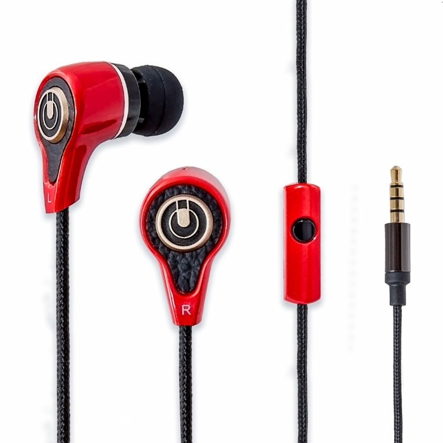 SYBA SY-AUD63088 / Multimedia Oblanc SY-AUD63088 Earset / 3.5MM 44IN F/ SMARTPHONE TABLET RED