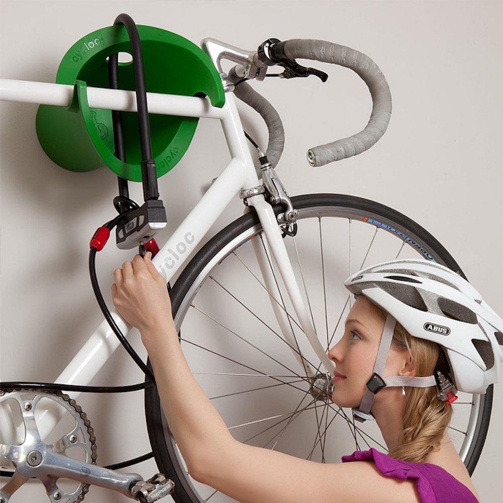 Amazon.com : Cycloc Solo   Elegant Wall Mount Bike Storage Rack   Black :  Indoor Bike Storage : Sports U0026 Outdoors