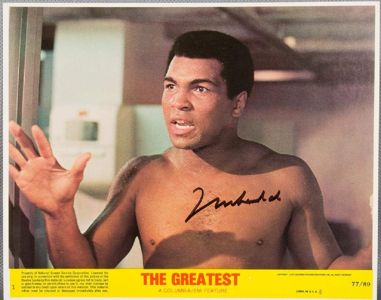 Muhammad Ali Signed Lobby Card COA PSA/DNA Certified Boxing Cut Signatures