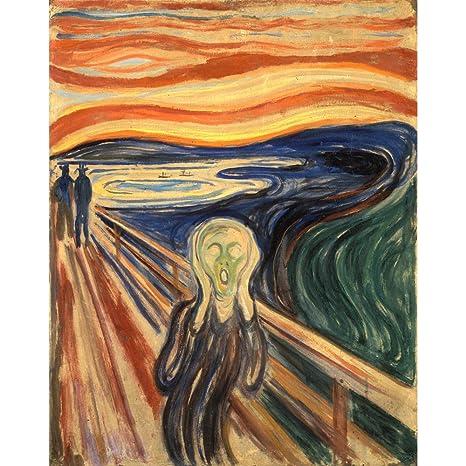 Niik Quadro + Telaio Bordo Colorato L\'Urlo di Munch, 60 x 46 x 1.7 ...
