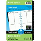 "Day-Timer Daily Planner Refill 2017, One Page Per Day, Classic, 5-1/2 x 8-1/2"", Desk Size (120101701)"