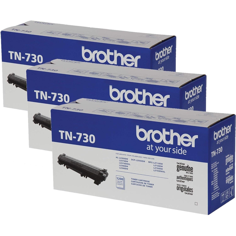 Brother TN-730 TN730 Genuine Black Toner DCP-L2550DW, HL-L2350DW HL-L2370DW, HL-L2370DW XL, HL-L2390DW HL-L2395DW MFC-L2710DW MFC-L2750DW MFC-L2750DW ...