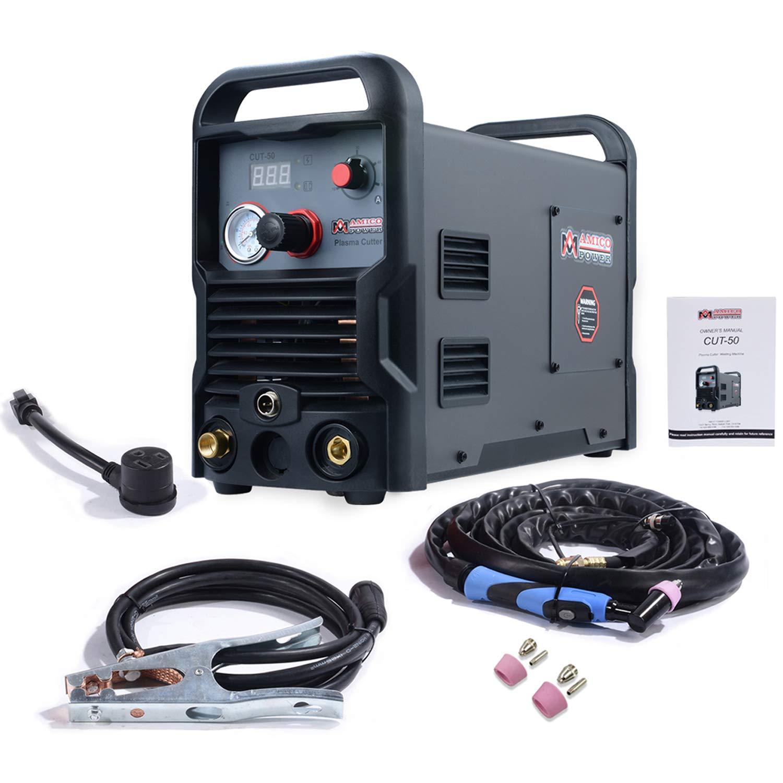 CUT-50, 50 Amp Pro. Plasma Cutter, DC Inverter 110/230V Dual Voltage Cutting Machine New by Amico