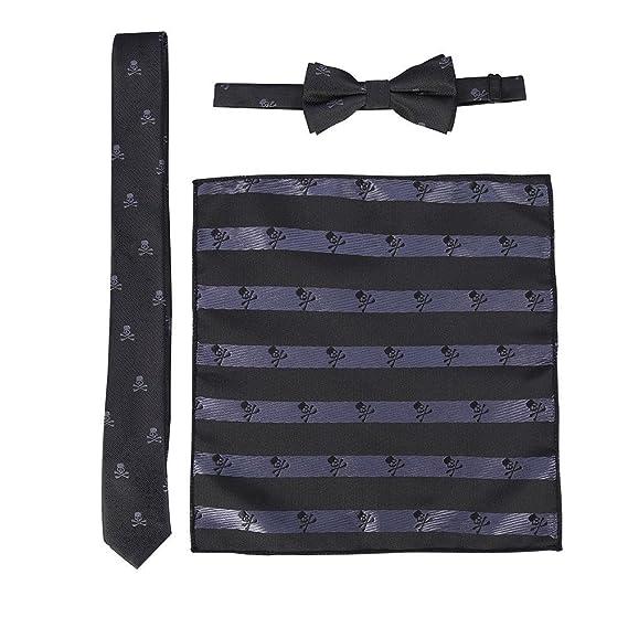 GLOGLOW Moda para Hombre Slim Tie + Bowtie Bow Corbata Tie + ...