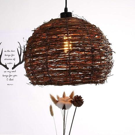 big sale a74ed 909b1 Wicker Pendant Light, Rattan Lamp Shade, Shabby Chic Lighting, Rattan  Ceiling Light Fixtures, Rustic Woven Chandelier