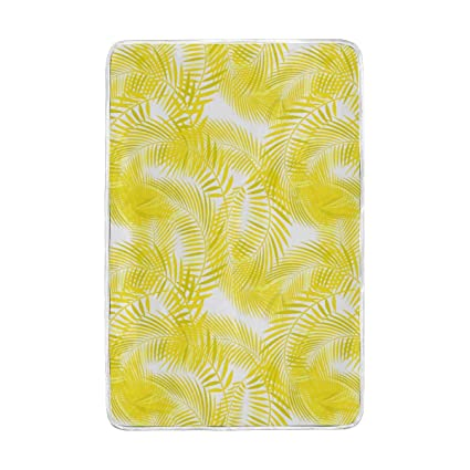 Amazon.com: Jonassk Woolffk Warm Yellow Palm Leaves Soft ...