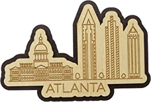 Printtoo Atlanta Georgia Engraved Wooden Custom Fridge Magnet Souvenir Home Decor