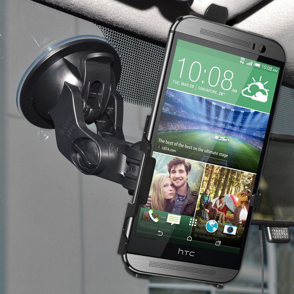 Amzer Suction Cup Mount for Windshield Retail Packaging Black Dash or Console for HTC One M8