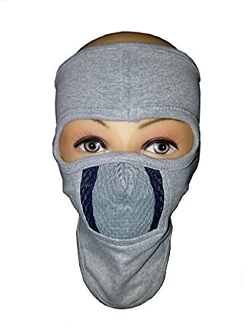 H-Store Ninja with Grey & Black Filter Bike Riders Anti Pollution Dust Sun Protecion Full Face Cover Mask Bike Riders (Ash)