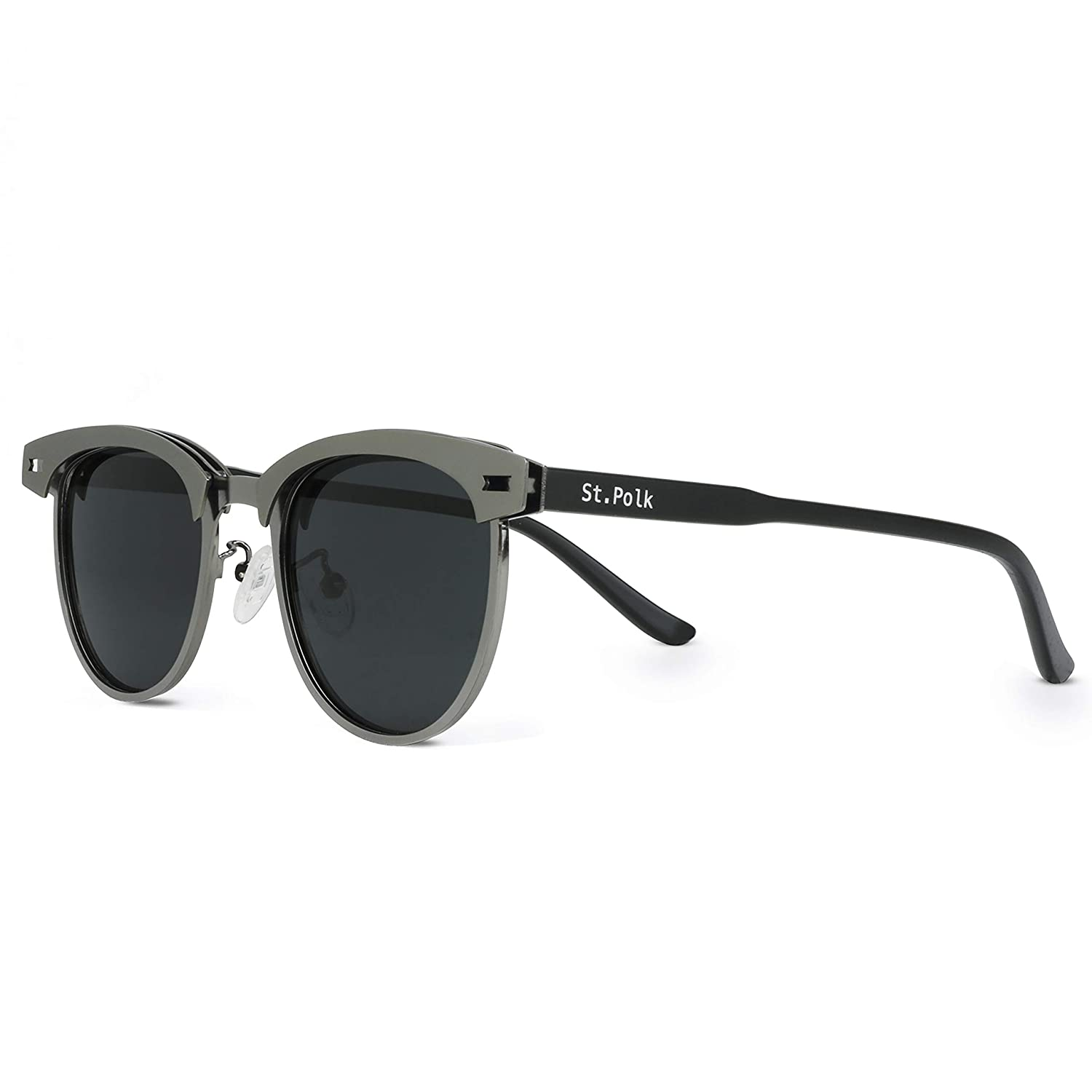 Polk Gafas de sol de Hombre//Mujer Polarizadas unisex efecto espejo lentes redondas ligeras muy resistentes St