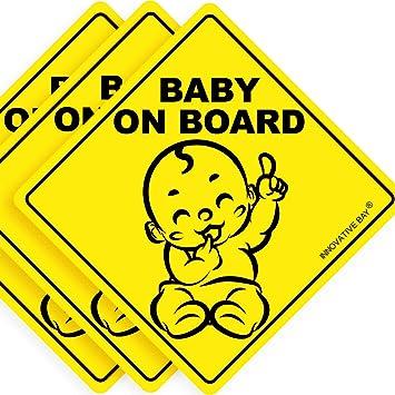 Amazon.com: Señal de bebé a bordo, Pegatina (paquete de 3 ...