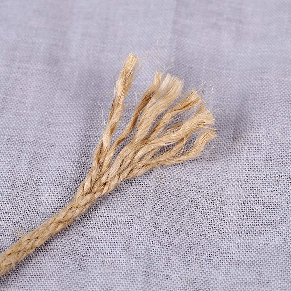 Jute-Seil zum Basteln von Seilen Kratzseil Dickes Seil Wie abgebildet 4 mm Katzen Gartenb/ündelung Starkes Naturseil Almabner Hanfseil