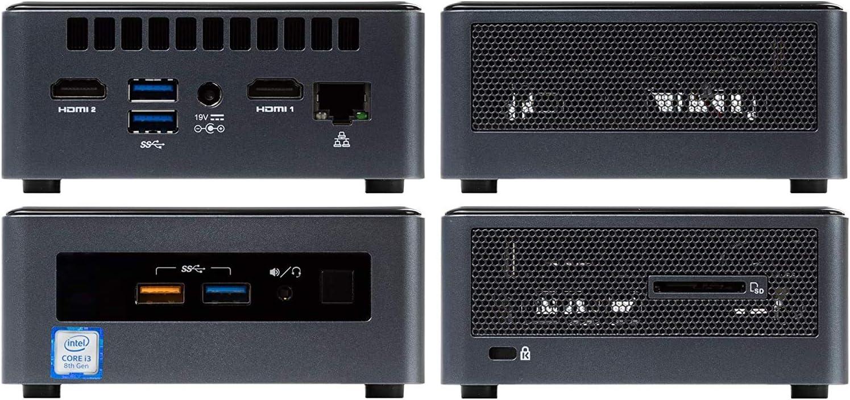Wi-Fi 8GB RAM 256GB SSD Intel Core i3-8121U Upto 3.2GHz Card Reader HDMI Intel NUC8I3CYSM Mini PC Bluetooth AMD Radeon 540 Windows 10 Pro