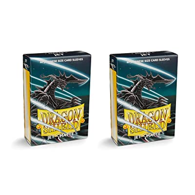 Dragon Shield Bundle: 2 Packs of 60 Count Japanese Size Mini Matte Card Sleeves - Matte Jet: Toys & Games