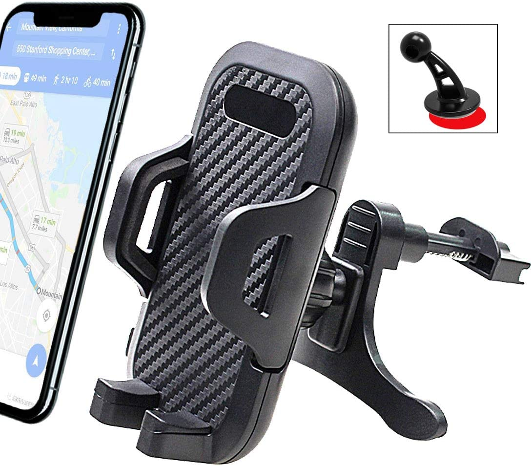 7 7 6 5s 4 Samsung Galaxy S10 S9 S8 S7 S6 S5 S4 LG Nexus Nokia and More SE 6s 6 Universal Smartphone Car Air Vent Mount Holder Cradle Compatible with iPhone Xs XS Max XR X 8 8