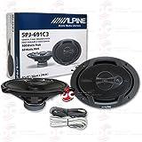"Brand New Alpine 6x9-inch 6x9"" 3-way Car Audio Coaxial Speakers (Pair)"