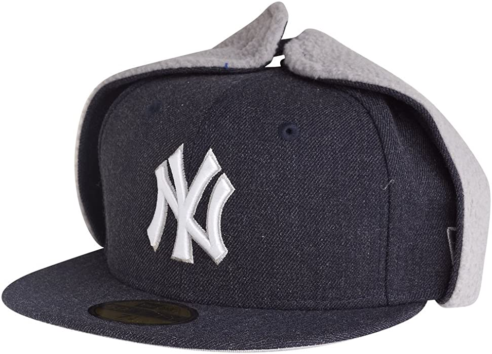 642b3f7bbe541 59Fifty DOG EAR Winter Cap - New York Yankees. Back. Double-tap to zoom