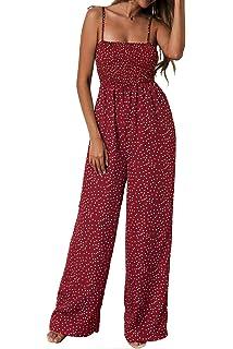 8b7aceb17de Amazon.com: FairyMei Women's Summer Sleeveless Polka Dot Jumpsuits ...