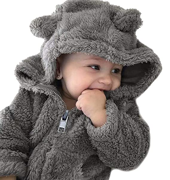 0975ee5f1541e EGELEXY Kids Boys Girls Winter Autumn Coat Children Bear Style Hood Fleece  Outwear Size 12-