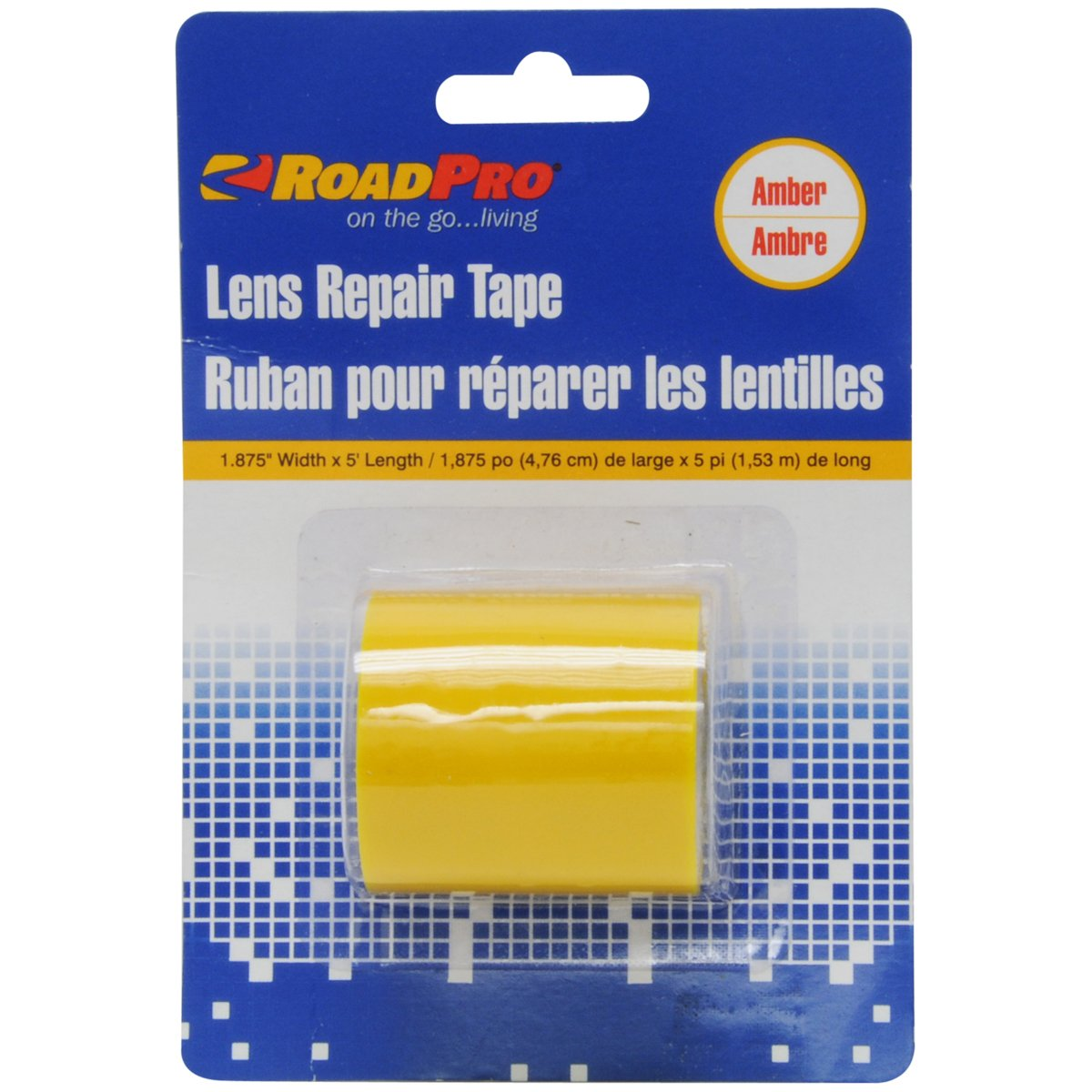 RoadPro RPLRTA Amber 1.875 x 5 Lens Repair Tape