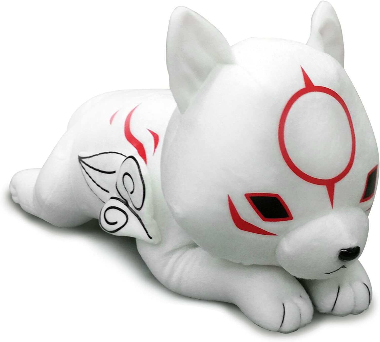 "Great Eastern GE-52646 Okami-Den 19"" Chibiterasu Lying Down Stuffed Plush"