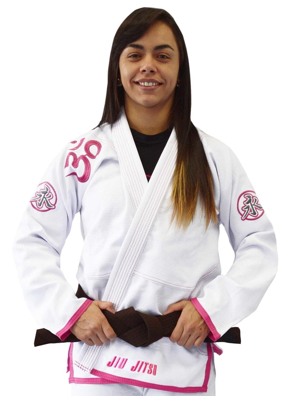 Om (Shanti) Gi  White Pink