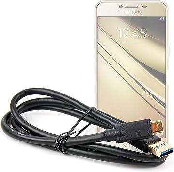 DURAGADGET Cable de USB C a USB 3.1, bañado en Oro para Smartphone ...