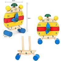 Ahşap Saat Eğitici Saat Oyuncak Puzzle Çocuk Saat Öğrenme